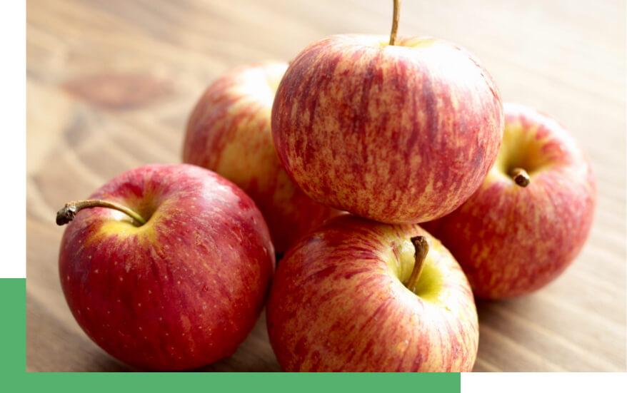 maçã horizontal
